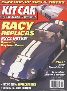 Kit Car magazine, Nov. 2000  The Yanks have made it sound like Danny did most of the work.  Right.  'Cept, I have the build images; all pre-digital and therefore scanned.